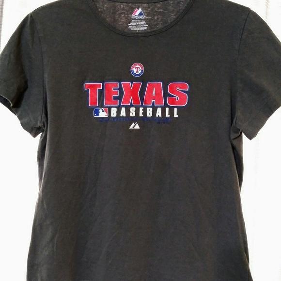 l Neu Texas Rangers Herren Größe L Rot Shirt Von Majestic
